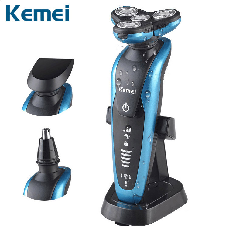 3in1 Washable rechargeable electric shaver kemei Mens floating Shavers blade electric shaving machine for men trimmer KM-58892<br><br>Aliexpress
