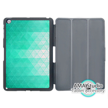 Many Green Triangles Design Folio Smart Cover Case For Apple iPad Mini 1 2 3 4 Air Pro 9.7