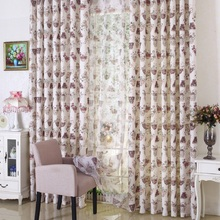 Blackout Cutain For Living Room Bedroom American Country Style Polyester Striped Cortinas Window Curtain Decoration Curtains(China)