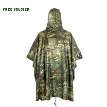 FREE SOLDIER Outdoor tactical military raincoat waterproof for cycling riding camping environmental mat men women's raincover(China)