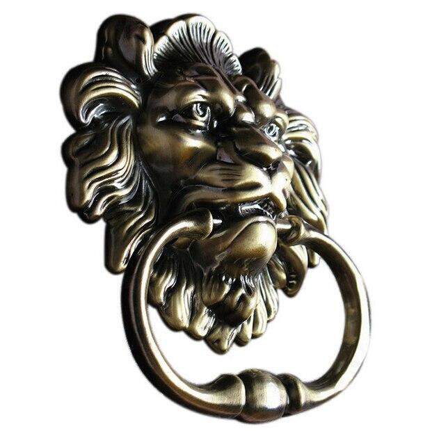 UniDecor Door Hardware Antique Bronze Lion Door Knocker Lionhead Doorknockers Lions Home Decor 120*160mm<br><br>Aliexpress