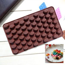 55-Cavitty Coffee Beans Silicone Mold Cake Chocolate Jelly Mold Baking Tool Hot(China)