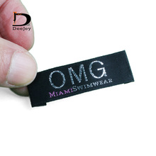 silk polyester woven labels for clothing special customized logo soft touching labels min order 1000pcs/lot(China)