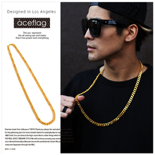 JFY Gold Chain 90cm Curved Long Gold Vacuum Plated Necklace Hip Hop Unisex Jewelry New Trendy Rock For Women Men's Gifts