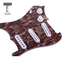 Tooyful 3ply Prewired Loaded Pickguard Dual Rail Humbucker Pickups for Strat Guitar(China)