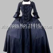 19th Century Gothic Black Victorian Era Big Ball Gown Stage Costume Dress (China) 706ddc689c0b