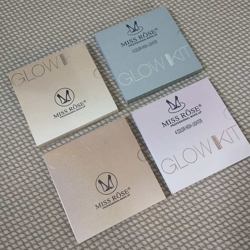 MISS ROSE GLEAM GOLDEN Glow kit Chocolate illuminator Birthday Edition Face Bronzer&Highlighter Concealer Contour Makeup Palette1234