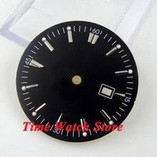 34.8mm black sterial dial super luminous silver marks Watch Dial for ETA 2836 Mingzhu 2813 4813 Movement D41