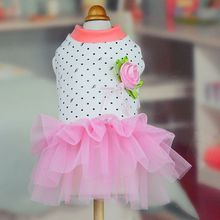 Newest Pet Dog Lace Tulle Tutu Dress Puppy Cat Bow Sequin Skirt Wedding Party Costume