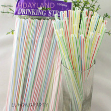 200pcs/lot Creative Extension Can Be Curved Fruit Juice Drink Milk Tea Straw Disposable Color Bend Plastic LUHONGPARTY(China)