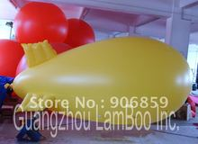 FREE Shipping/4 meters Long Inflatable Advertising Helium Blimp/Airship/Zeppeline for Events/Exhibition/Solid color(China)