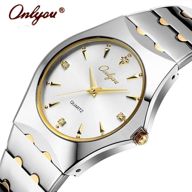 Wrist Watches For Women Men Lovers Watches Quartz Rhinestones Gold Stainless Steel Ladies Watch Relogio Feminino Clock Gift 8677<br><br>Aliexpress