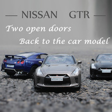 1:36 Alloy car model Simulation Nissan GTR R35 Sports car Children like the gift Family Collection Decoration Metal car(China)
