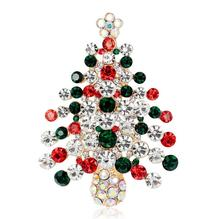 New Year Christmas Brooch Christmas Tree Brooches Charm Rhinestone Brooch Pin for Women Cheap-christmas-ornament Christmas Gift