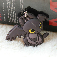 Anime Cartoon How To Train Your Dragon Night Fury Toothless Figure Keychain Pendant Toys 10pcs/lot