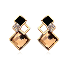 Christmas Earrings Stud High Quality Jewelry Austrian Crystal Square Earrings Korea Jewellery 4 Options Hyperbole Bijoux Earring
