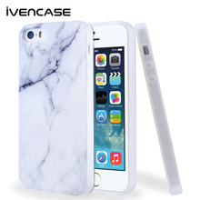 Ultra Thin Shockproof Rubber PC Gel TPU Case Cover for Apple iPhone 5s Silicone White Marble Pattern 6 6S Plus Cases