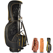 2017NEW PU leather stand golf bag Black Brown Coffee with quality engineering plastics metal button load 14 golf rods