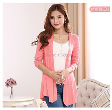 3XL/4XL/5XL Spring Autumn Women Oversized Modal Cardigan Plus Large Casual Black Red Pink Blue Long Warm Sweater Femininos Coat