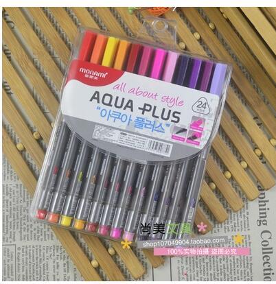 24colors/set  Monami triangle rod fiber pen watercolor painting pen hook line pen<br><br>Aliexpress
