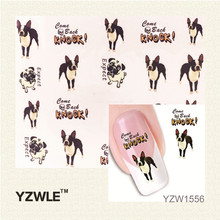 YZWLE 1 Sheet Lovely Dog Design New Arrival Water Transfer Nail Art Stickers Decal(China)