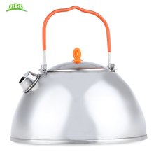 BRS - TS07 800ML  Stainless Steel Utility Coffee Pot Water Kettle Teapot Outdoor Tableware Portable for Camping Hiking