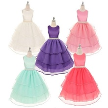 2017 new summer Style High Quality Lovely princess dress kids Party Wedding Flower girls dresses children Mesh Dresses QZ-493(China)