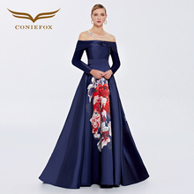 Coniefox 38062 strapless flower lace vestidos de festa vestido longo para casamento zuhair murad sexy long evening gowns dress