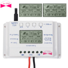 LCD 20A 12V/24V MPPT Solar Panel Battery Regulator Charge Controller Multi-time(China)