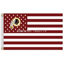 Washington Redskins USA Football Flag NFL star banner100D 3ft x 5ft Polyester Flying Size No.4 150* 90cm Custom flag(China)
