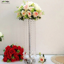 10PCS/LOT 55cm Floor Vase Metal Flower Vase Table Centerpiece Road Lead Marriage Metal Flowers Vases For Wedding Decoration 006(China)