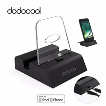 dodocool MFi Certified Phone Charger Charging Dock Station For iphone 7 plus Desktop Docking Charger with 3.5mm Audio for iPhone(China)