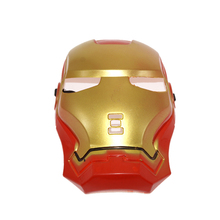 Fashion 12pcs/lot Super Hero Iron Man Mask Cosplay Theme Activity Toys For Children Cover Full Face Funny Decoration Gifts New(China)