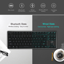 Dareu pc keyboard wired and wireless Bluetooth connection backlit gaming keyboard for tablet computer laptop(China)