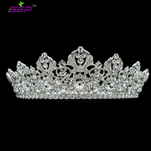 Big Full Bridal Wedding Tiaras Crowns Headband Austrian Crystals Women's Prom Hair Accessories Jewelry SHA8729