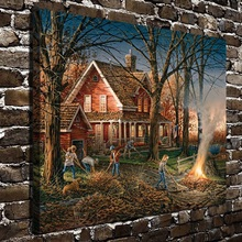 10564 Terry Redlin Scenery House Work People .HD Canvas Print Home decoration Living Room bedroom Wall pictures Art painting