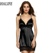 HALIFE Women Night Dress Sleepwear Underwear Plus Size XL XXL 3XL Erotic Lingerie Sexy Babydoll Gown With G-String Costumes 15(China)