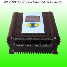 2017 Hot Selling 400W 12V PWM Wind Solar Hybrid Controller With LCD Displayer