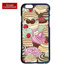 Cupcake Cover Case for LG G2 G3 G4 iPhone 4 4S 5 5S 5C 6 6S 7 Plus iPod 5 Samsung S3 S4 S5 Mini S6 S7 Edge Plus Note 2 3 4 5
