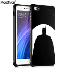 Luxury Brand phone case For Xiaomi mi4c silicone Protective Batman cat bear Skull pattern for xiaomi redmi 4a back cover shell(China)