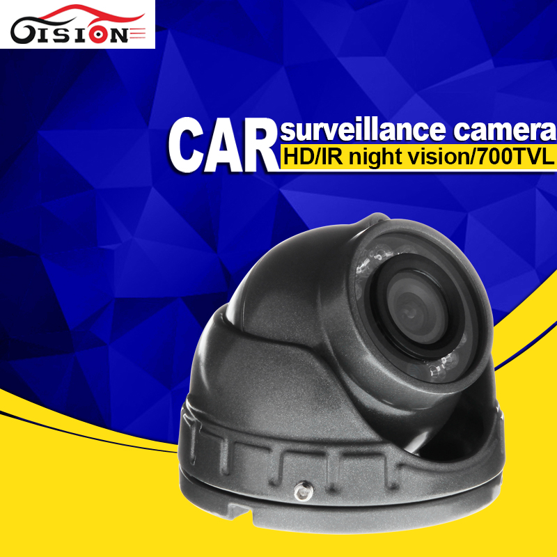 Free Shipping Gray Mini Car Camera,700TVL CCD Sony Metal Vehicle For Taxi Bus Waterproof Night Vision Analog Camera <br>