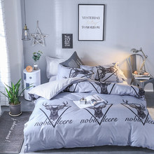Bedding set Queen size 4pc Duvet cover sets Twin Full size Polyeter Duvet Cover Home Textile Wholesale deer(China)