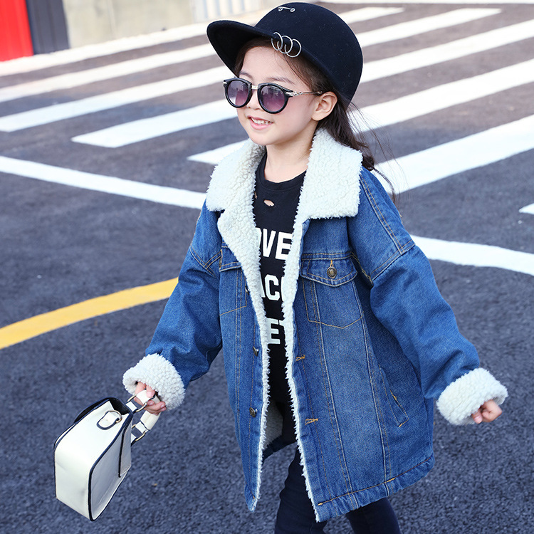 Child Coat Korean Girl Cowboy Coat Children Keep Warm Cotton Coat Overcoat Jacket Childrens Winter Jackets Boys Girls  Одежда и ак�е��уары<br><br><br>Aliexpress