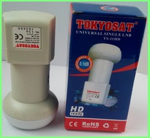 TOKYOSAT TS-11HD  free shipping Best Signal digital HD Universal KU Band Single LNB High Gain Low noise satellite Dish LNB