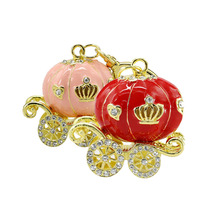 Free Shipping Jewelry mini beautiful pumpkin crystal USB Flash Drive fashion diamond pendrive pen drive 8GB/16GB Wholesale