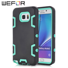 For Samsung Galaxy Note 5,WEFOR Hybrid Rugged Triple Layer Combo Case for Samsung Galaxy Note 5 with Hard Plastic Inner Shell
