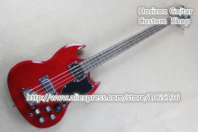 Good Cheap Price 4 Strings Electric Bass Guitar SG 400 Red Color Chinese Guitars & Music Instrument In Stock(China)