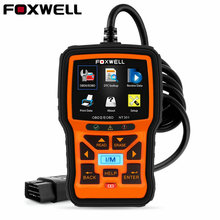 Foxwell NT301 OBD2 EOBD Engine Universal Car Code Reader OBD Diagnostic Tool with O2 Sensor PK AL519 OBDII Automotive Scanner(China)