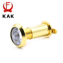 NED Deluxe 200 Degree Brass Wide Angle Peephole Door Viewer Door Spyphole Viewer Chrome-plated Gold-plated