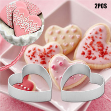 Christmas Kitchen Loving Heart Shaped Aluminium Tools Alloy Pastry Biscuit Cookie Cutter Baking Mould Free Shipping(China)
